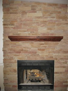 Thin stone veneer Fireplace-02