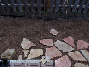 veneer stone on patio