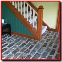 Philly cobblestone on an entry way floor