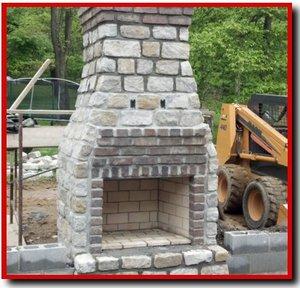 Thin Stone Veneer Outdoor Fireplace