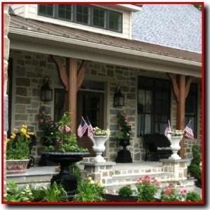 Ashlar Thin Stone On Front of House