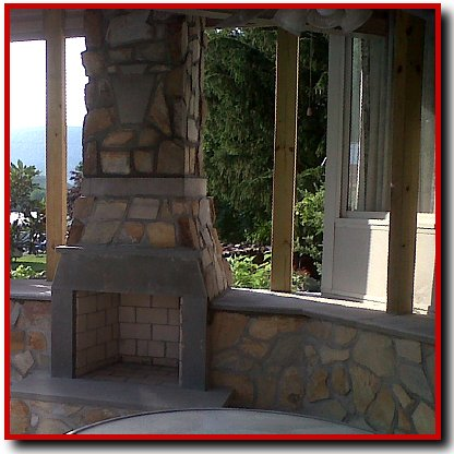 Thin Stone Fireplace